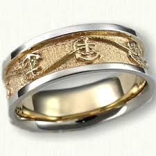 custom mens wedding bands 14kt two tone custom anchor and rope wedding band if i was to