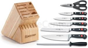 wusthof classic 8 piece block set knifecenter 8418