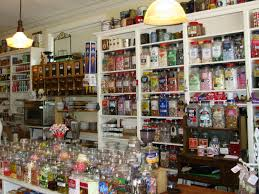 old fashioned general store with creaky wood floors and jars of