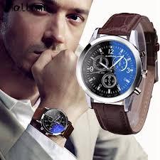 malloom mens numerals blue glass watches luxury