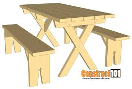 picnic table bench plans picnic table bench plans construct101