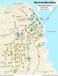 Bart Expansion Map by Bike Share System Expanding In Bay Area Starting In Sf Sfgate