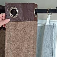 this is my easy fix for my grommet curtains to put lining behind