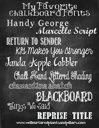 my favorite chalkboard fonts u2013 plants and pillars