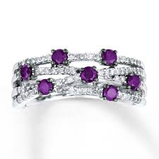 purple diamond engagement rings jared purple diamond ring 3 4 ct tw cut 14k white gold