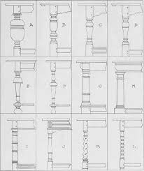 types of turned table legs of the seventeenth century excerpted