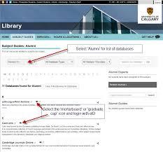 alumni database software home alumni database access library at of calgary