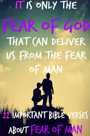 important bible verses fear man