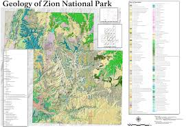 map of zion national park file nps zion geologic map jpg wikimedia commons