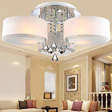 Modern Ceiling Lights Living Room Loco Led Modern Acrylic Chandelier 3 Lights Chrome