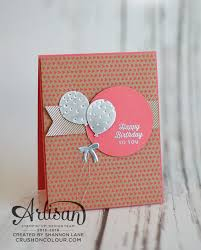 crush on colour stampin u0027 up adt blog hop clean simple cards