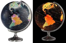 earth globes that light up orion illuminated world globe by replogle globes maps travel