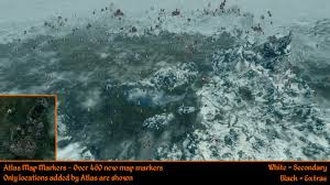 atlas map markers for skyrim blackreach dawnguard and dragonborn