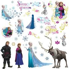 disney frozen characters wall decals stickers eonshoppee giant