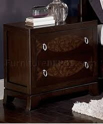 brown cherry finish traditional bedroom w storage footboard