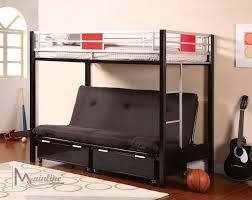 Build Futon Bunk Beds Glamorous Bedroom Design - Futon bunk bed with mattresses