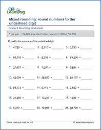 grade 5 place value u0026 rounding worksheets free u0026 printable k5