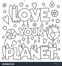 love planet coloring stock vector 605737970 shutterstock
