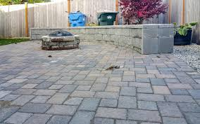 Patio Interlocking Pavers Backyard Transformation In Tumwater Ajb Landscaping Fence