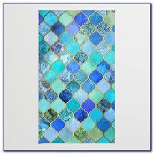 aqua blue rug runner rugs home design ideas mg9vppejyb