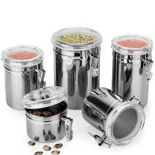 Stainless Steel Canisters Kitchen Kitchen Kitchen Storage Containers In Awesome Kitchen Storage