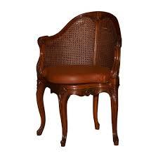 bureau antiquaire fauteuil de bureau mazarin de style louis xv canné en hêtre