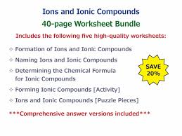 forming ionic compounds cut out activity by
