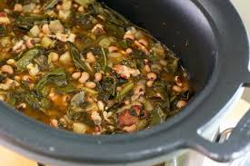 crock pot black eyed peas and collard greens recipe