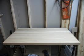 oak solid butcher block coffee table