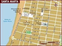 map of santa map of santa marta