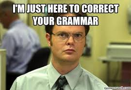 Correct Grammar Meme - m just here to correct your grammar