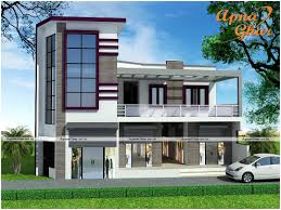 commercial cum residential 5 bedroom duplex 2 floors house click on this link http www apnaghar co in house design 436 aspx to view free floor plans naksha and other specifications for
