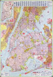 New York Maps by Large Scale Road Map Of New York City With Street Names New York