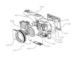 evf patent for a powershot g9x or g7x series sized camera body