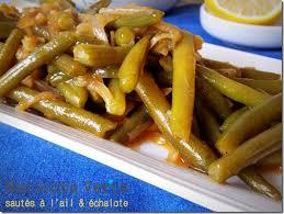 cuisiner haricots verts frais haricots verts à l ail échalote facile le cuisine de samar