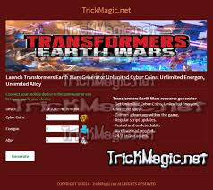 transformers earth wars cheats hack 2017 unlimited resources