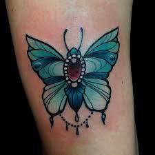 jewelled blue butterfly tattoo by eilo at mtl tattoo my next tattoo