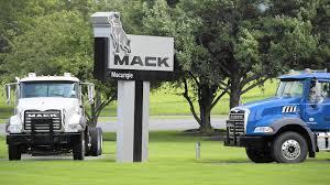 mack trucks with slumping demand mack trucks plans production shutdowns in