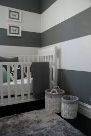 Navy Accent Wall by Pinspiration 125 Chic Unique Baby Nursery Designs Striped