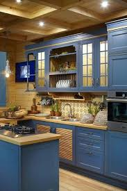 blue kitchen cabinets and yellow walls 25 catchy and bold blue and yellow kitchens digsdigs