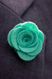 Lapel Flower Mint Felt Lapel Flower Dapper Monkey