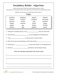 fourth grade vocabulary worksheets free worksheets library