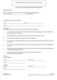 free employee disciplinary write up form template resume maker