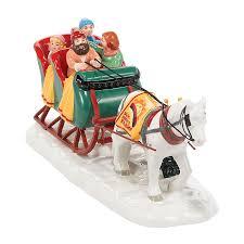 retired dept 56 halloween snow village sleigh ride department 56 corner