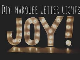 diy room decor marquee letter lights youtube