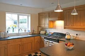 u shaped kitchen design ideas blue design accent color on cabinets u shaped kitchen design