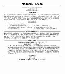 100 Creative Sample Resume The by Best Retail Assistant Manager Resume Example Livecareer