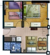 2 bedroom condo floor plans 2 bedroom unit 49 sqm 527 sq ft area filbuild com