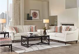 Affordable Living Room Sets Sofia Vergara Angora White 8 Pc Living Room 1 738 00 Find