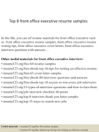 Resume Examples For Office Jobs by Top8frontofficeexecutiveresumesamples 150407034545 Conversion Gate01 Thumbnail 4 Jpg Cb U003d1428396388